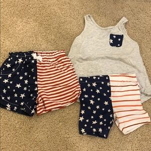 Girls 5T Old Navy Patriotic tank and shorts